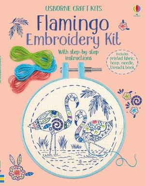 Embroidery-kit-flamingo