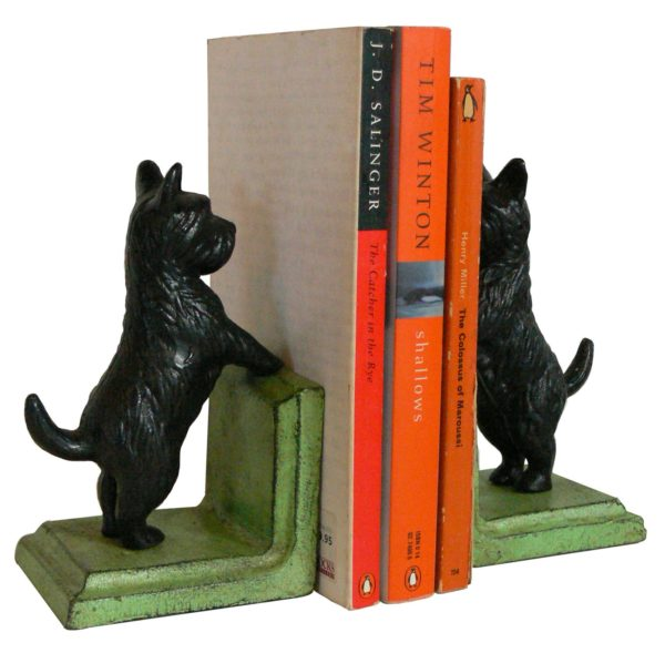 Scotty Bookends Black